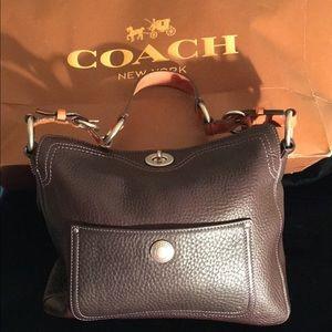 COACH PEBBLE GRAIN LEATHER BAG PURSE 11x9